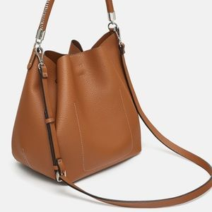 099cc5d935 Zara Bags - Zara bucket bag with topstitched handle